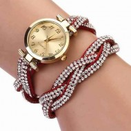Ceas dama Fancy elegant watch - rosu burgund