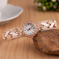 ceas ieftin dama alb cu auriu