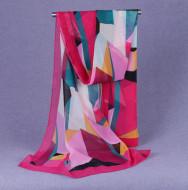 Esarfa eleganta din voal, cu design abstract, model 18