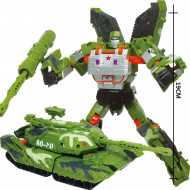 Jucarie ieftina interactiva tip Transformers - 19 cm, Military style