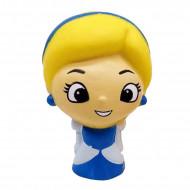 Jucarie Squishy, model fetita blonda, cocheta