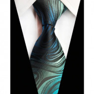 Model 27 - cravata matase naturala 100%, tesatura jaquard + cutie cadou