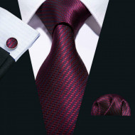 Set cravata + batista + butoni - matase naturala 100% - model 10