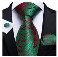 Set cravata + batista + butoni - matase naturala 100% - model 113