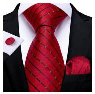 Set cravata + batista + butoni - matase naturala 100% - model 128