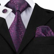 Set cravata + batista + butoni - matase naturala 100% - model 49