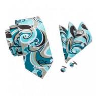 Set cravata + batista + butoni - matase naturala 100% - model 6