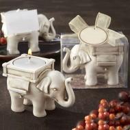 Suport ornamental lumanare - elefant - simbolul norocului