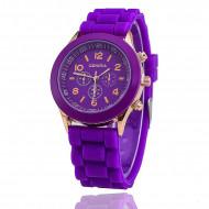 Ceas dama, din silicon, purple (mov) cu auriu