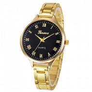 Ceas dama Geneva Black & Golden Clasic Style