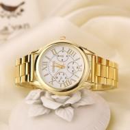 Ceas dama Geneva White & Gold
