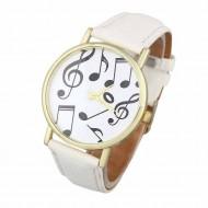 Ceas dama Music Hour - alb
