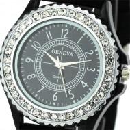 Ceas de dama ieftin, Geneva cu cristale