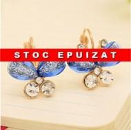 Originali cercei cu fluturasi - bleu