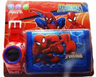 Set Ceas pentru baietei cu portofel, tip Spider Man, model 1