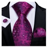 Set cravata + batista + butoni - matase 100% - model 142