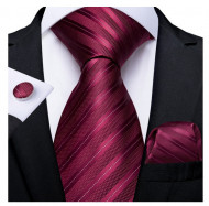 Set cravata + batista + butoni - matase 100% - model 176