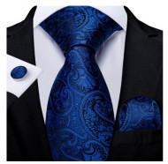 Set cravata + batista + butoni - matase naturala 100% - model 114