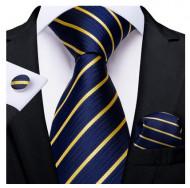Set cravata + batista + butoni - matase naturala 100% - model 129