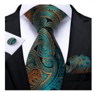 Set cravata + batista + butoni - matase naturala 100% - model 50