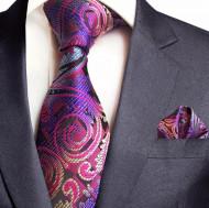 Set cravata + batista - matase naturala 100%, tesatura Jaquard - model 38