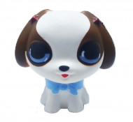Squishy Jumbo ieftina model Little Cute Puppy, alb