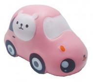 Squishy Jumbo ieftina model masinuta cu pisicuta, roz