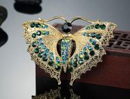 Brosa eleganta cu cristale, model fluture - 1