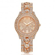 Ceas dama Luxury Full Crystals - Rose Golden