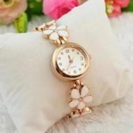 Ceas de dama Delicate Flower - alb