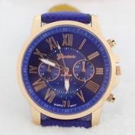 Ceas de dama ieftin, Geneva bleumarine cu auriu