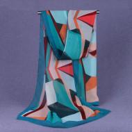 Esarfa eleganta din voal, cu design abstract, model 20