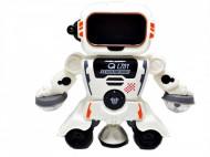 Jucarie ieftina interaciva Robot cu miscare, sunete si lumini, rotire 360 grade