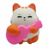 Jucarie Squishy, Jumbo, foarte parfumata, model pisicuta cu chitara