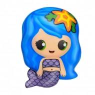 Jucarie Squishy, model sirena, albastra