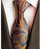 Model 50 - cravata matase naturala 100%, tesatura jaquard