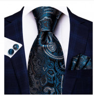 Set cravata + batista + butoni - matase 100% - model 158