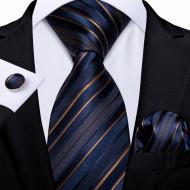 Set cravata + batista + butoni - matase naturala 100% - model 115