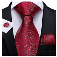 Set cravata + batista + butoni - matase naturala 100% - model 130