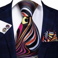 Set cravata + batista + butoni - matase naturala 100% - model 41