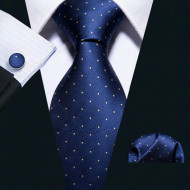 Set cravata + batista + butoni - matase naturala 100% - model 60