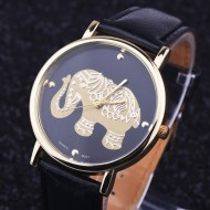 Ceas dama model elefant auriu - negru