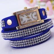 Ceas de dama cu cristale - albastru