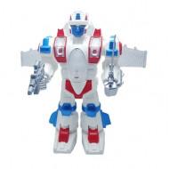 Jucarie ieftina interaciva Robotul razboinic cu miscare, sunete si lumini