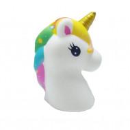 Jucarie Squishy, parfumata, calut unicorn, multicolor