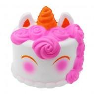 Jucarie Squishy parfumata, Tort Unicorn - roz