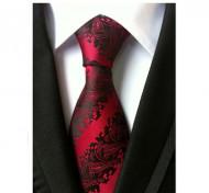 Model 20 - cravata matase naturala 100%, tesatura jaquard + cutie cadou