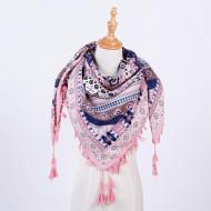 Sal elegant, dimensiune mare 110 x 110 cm, roz