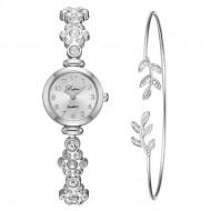 Set Ceas dama elegant cu cristale + bratara, set cadou, model 1