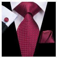 Set cravata + batista + butoni - matase 100% - model 134